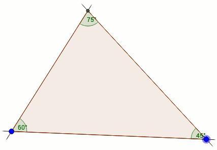 Das allgemeine Dreieck konstruiert in GeoGebra